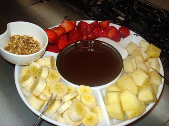 recette FONDUE AU CHOCOLAT