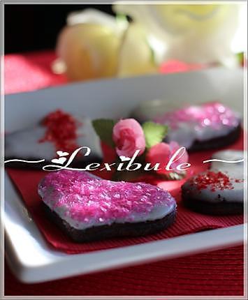 recette Biscuits au chocolat de la st-valentin