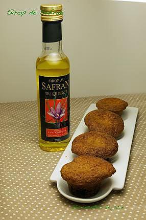 recette muffins au sirop de safran et cramberries