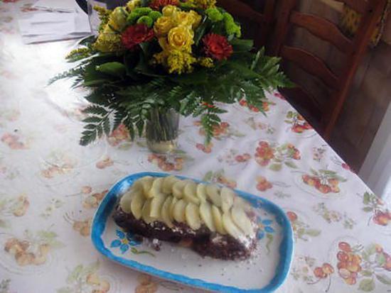 recette cake poire chocolat amande