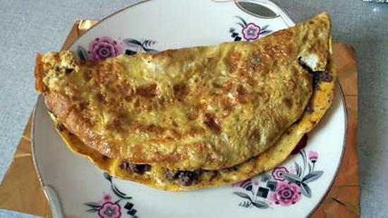 recette Omelette fourrée à la viande