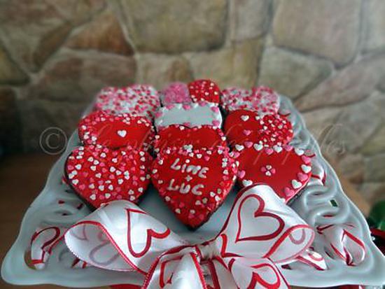 recette Sablés au chocolat (St-Valentin)