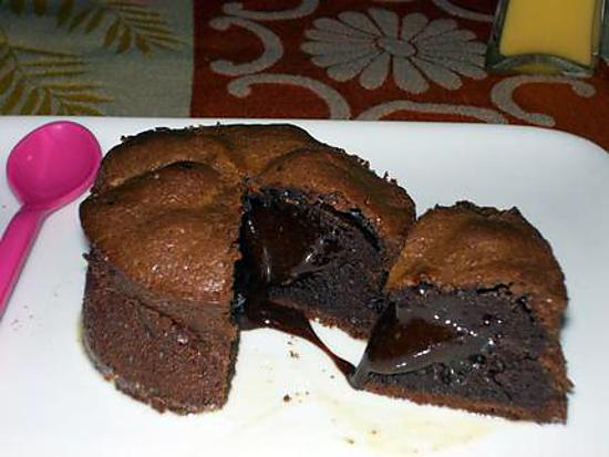 recette de moelleux au coeur coulant chocolat et creme anglaise au lait de coco