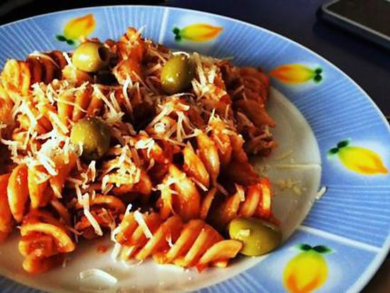 recette Fusillis aux poivrons