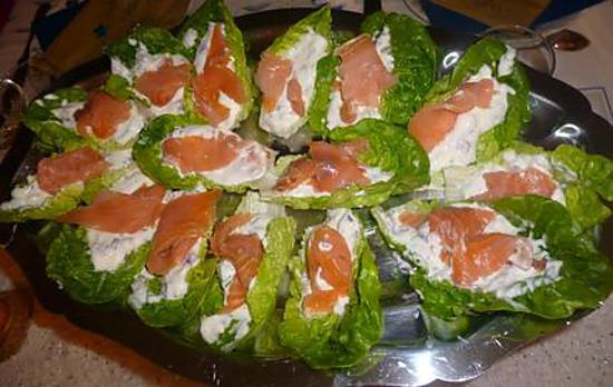 recette Bouchée fraîche au saumon fumé