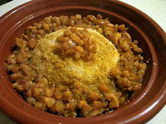 recette couscous raisins secs et oignons caramelises