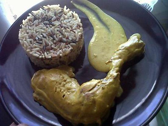 recette Poulet coco au 3 riz senteur jasmin