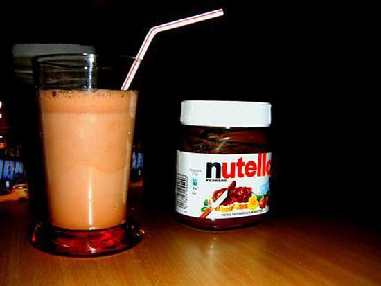 recette de milk shake au nutella