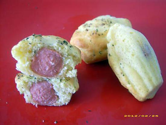 recette madeleines salées strasbourgeoises