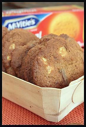 recette ** Cookies céréaliers aux Digestive biscuits de Mac vitie's aux pepites de chocolats ( Blanc & au Lait) **