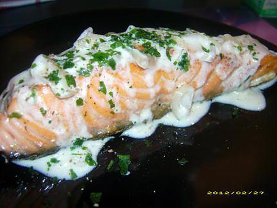 Vin avec pavé de saumon