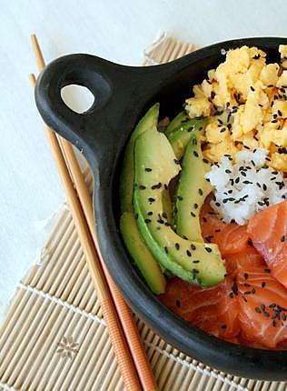 Recette De Cuisine Japonaise Chirashi Ou Chirachi Au Saumon