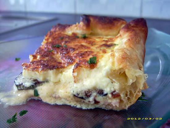 recette tarte au jambon et aux courgettes poêlées