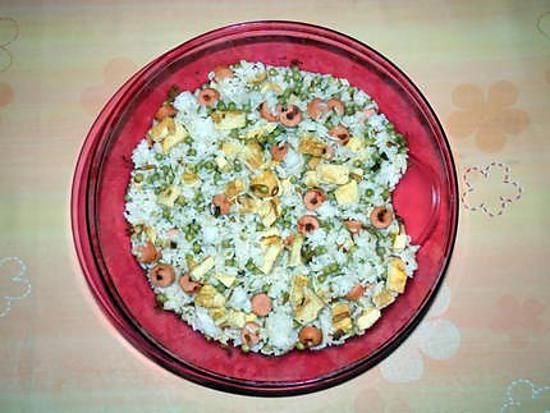 recette Mon riz cantonais aux saucisses