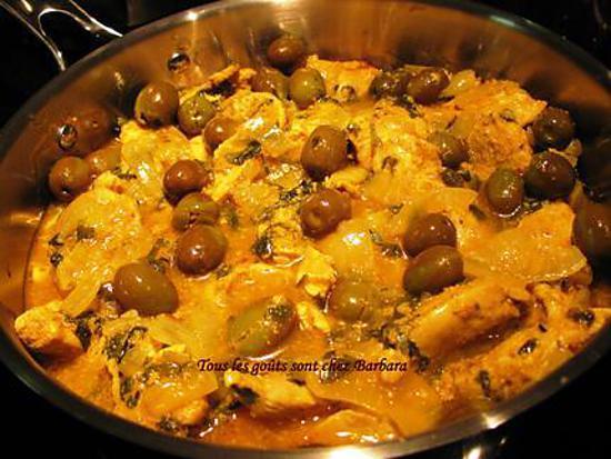 Cuisine Marocain Simple : Recette de poulet marocain aux olives