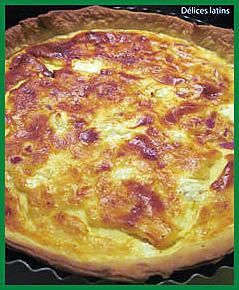 recette Quiche au fromage de chèvre et pancetta