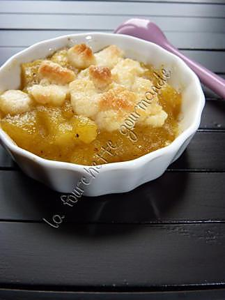 recette Crumble pommes curry (Eh oui!!)