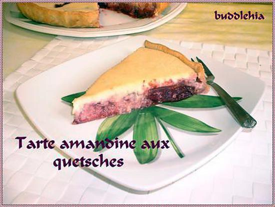 recette Tarte amandine aux quetsches
