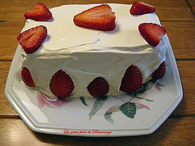 Recette gateau avec mousse de fraise