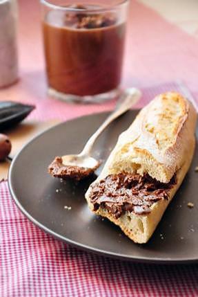 recette Pâte à tartiner croustillante au chocolat