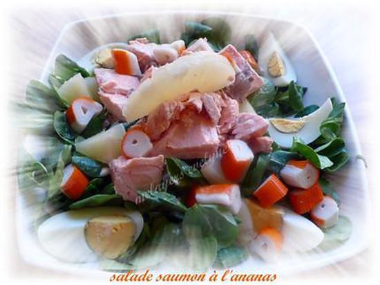 recette de salade de saumon l 39 ananas. Black Bedroom Furniture Sets. Home Design Ideas