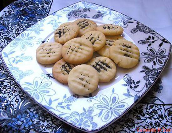 recette Naan Berenji - Biscuits iraniens à la rose
