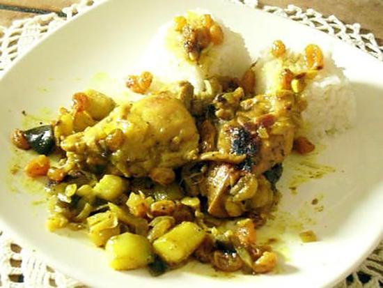 recette colombo de poulet
