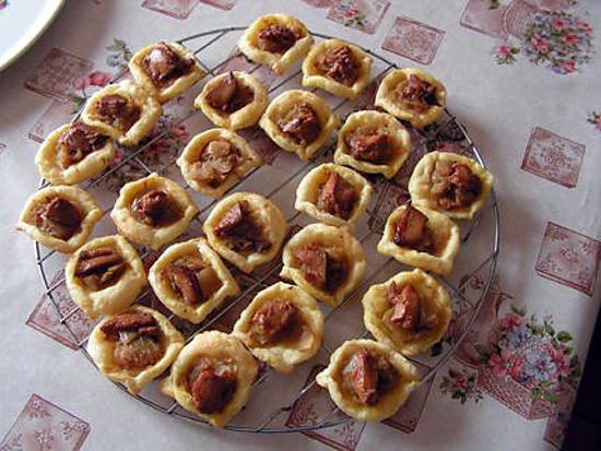 recette Tartelette au confit d'oignons et foie gras