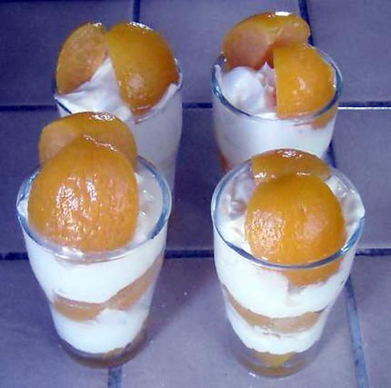 recette verrines aux abricots