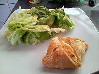 recette Feuilleté chèvre oignons lardons