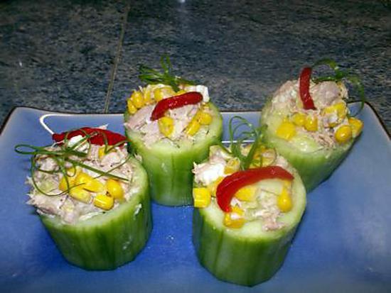 recette barquettes de concombre