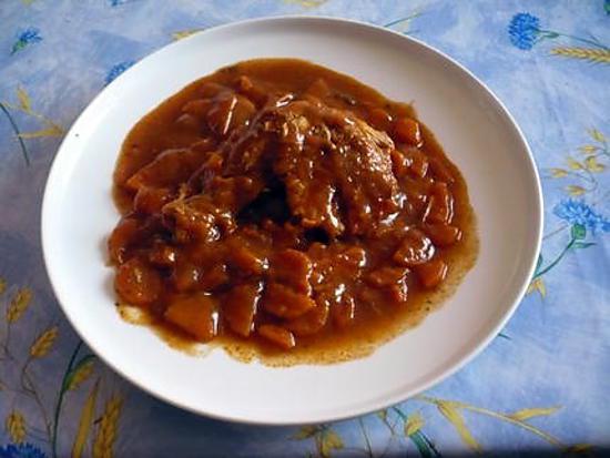 recette Poulet mijoté aux carottes