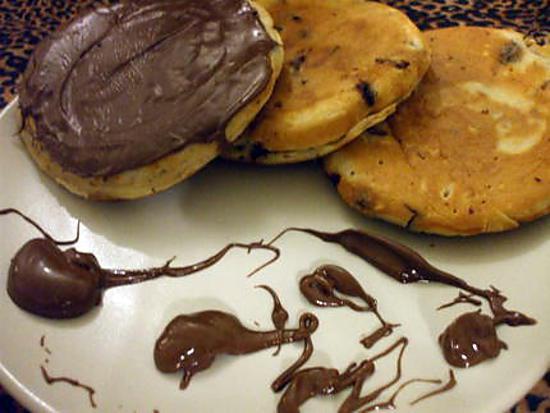 Recette De Pancakes Aux Pepites De Chocolat Et Son Nutella