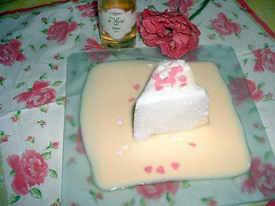 recette Iles flottantes, crème anglaise à la rose