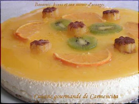 recette Bavarois aux  kiwis et son miroir d'oranges