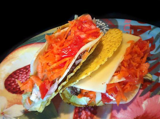 recette Fiesta Zapatta ! Tacos au boeuf et fromage !