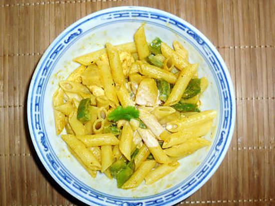 recette Penne poulet curry