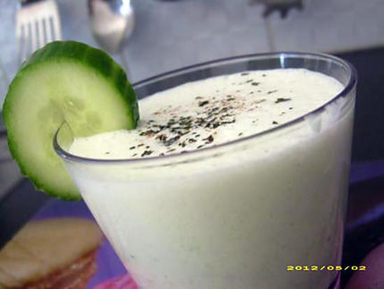 recette crème de concombre