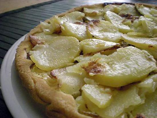 recette Tatin de pommes de terre, poireau, lardons et fromage