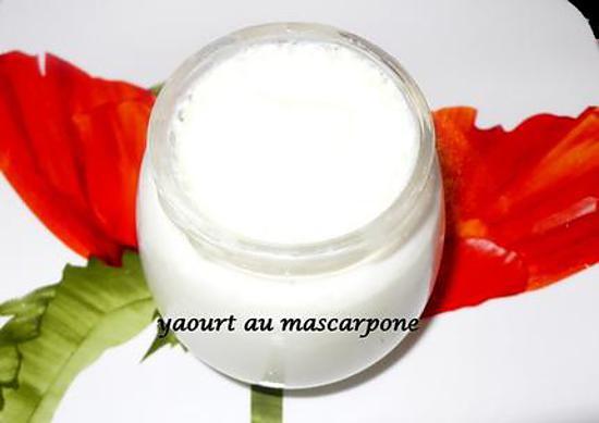 recette yaourt au mascarpone