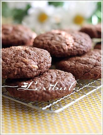 recette Biscuits-Brownies au gruau et au chocolat