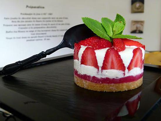 """recette Fraisier ou cheesecake ? ... Un """"Fraise-cake"""" !!!"""