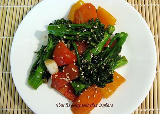 recette Légumes sautés à la vietnamienne