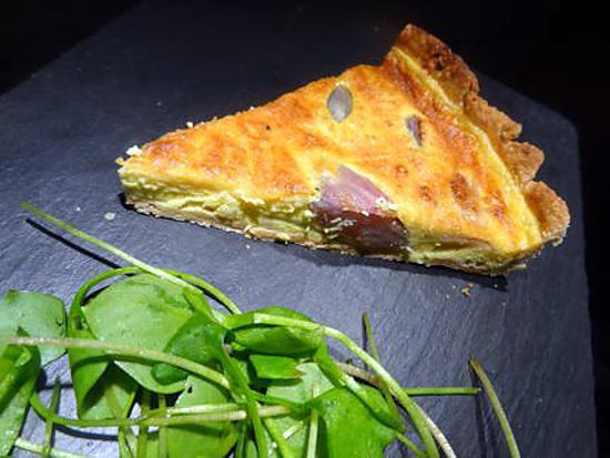 recette tarte aux échalotes façon Julie Andrieu