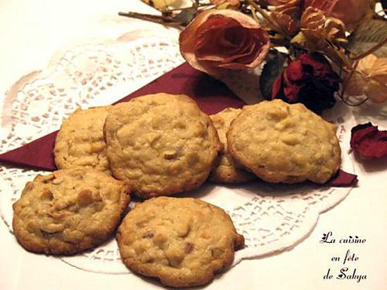 recette de cookies aux noix de macadamia chocolat blanc. Black Bedroom Furniture Sets. Home Design Ideas