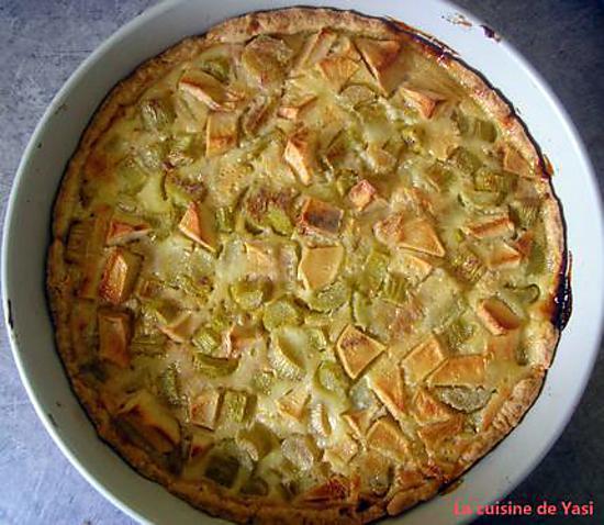 recette Tarte rhubarbe-pomme