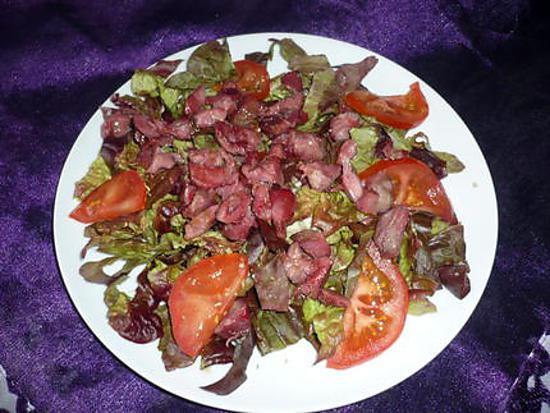 recette de salade verte gesiers tomates. Black Bedroom Furniture Sets. Home Design Ideas