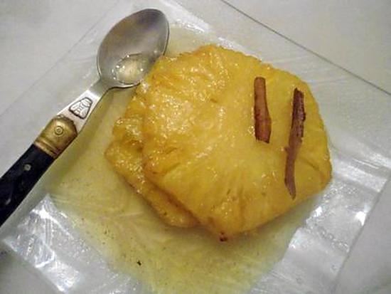 recette ANANAS GRILLE A LA VANILLE