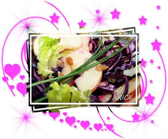 recette de salade de chou rouge cru pomme verte et raisins. Black Bedroom Furniture Sets. Home Design Ideas