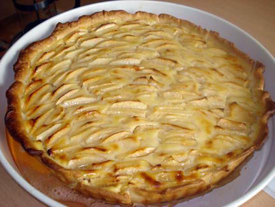 Recette de tarte aux pommes la cr me patissi re - Comment couper des pommes pour une tarte ...